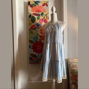 Maggy London Chambray & Cream Dress NWT